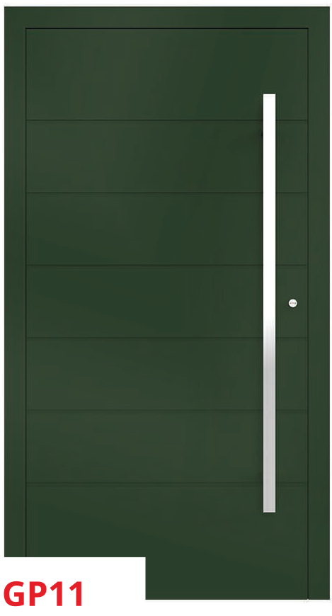midos panel door green dark stripe