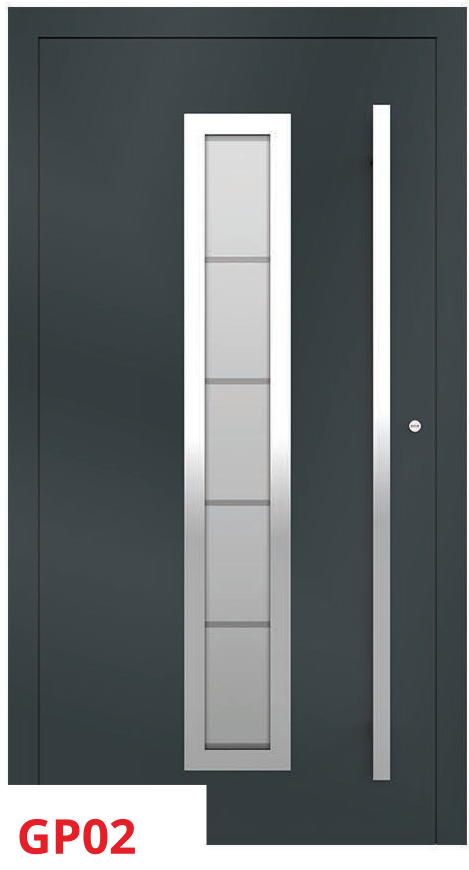 midos panel door grey dark