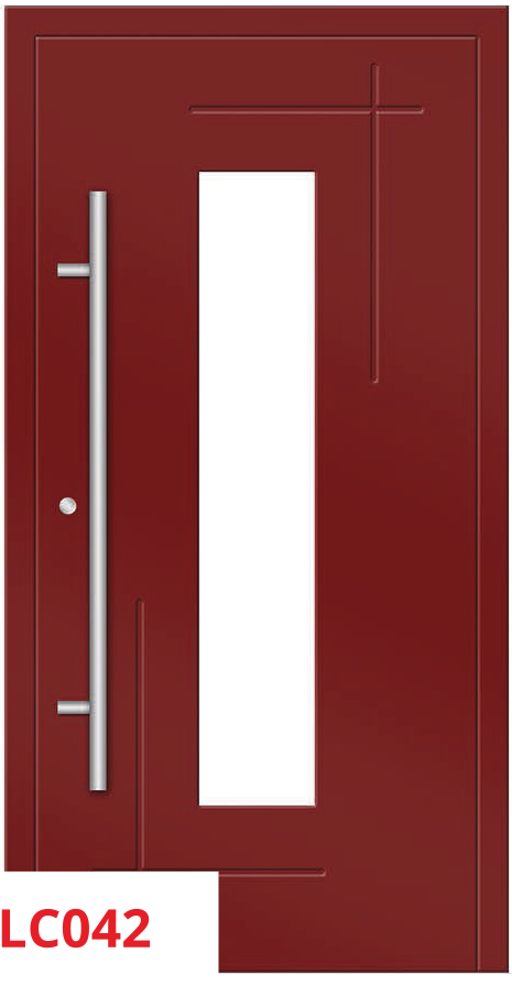 midos panel door red 042