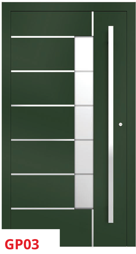 midos panel door green