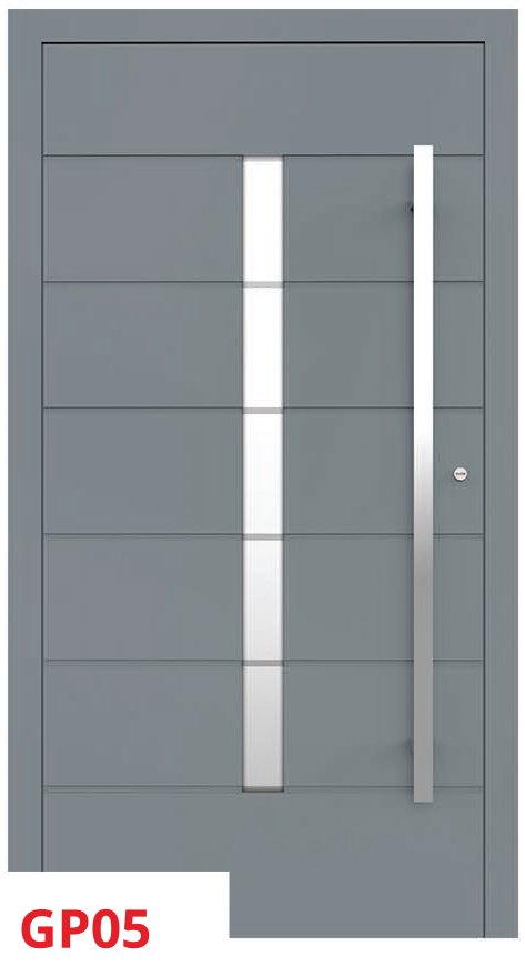 midos panel door grey light