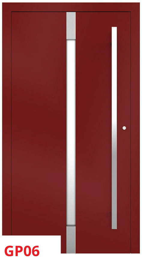 midos panel door red