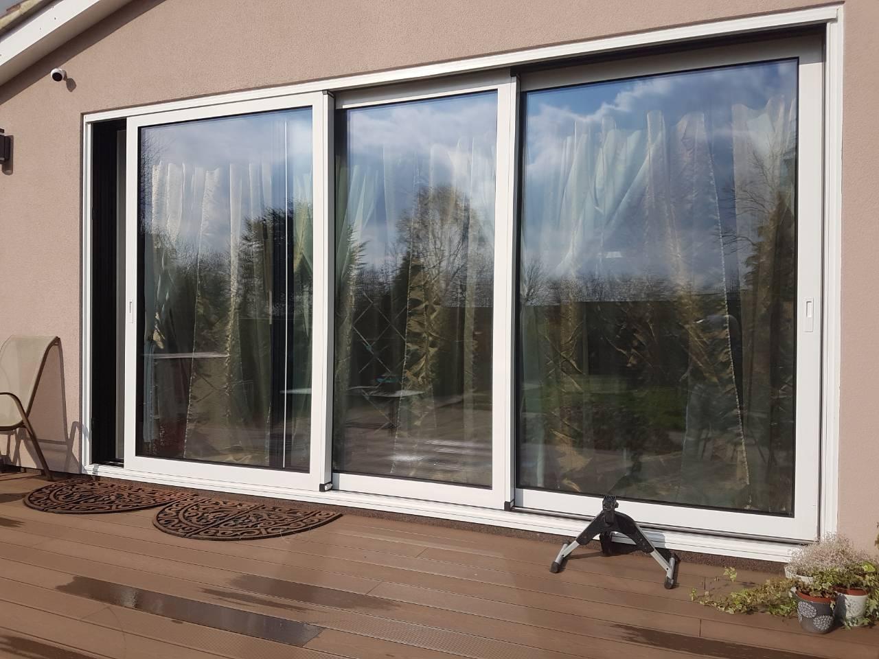 midos slide doors outside white